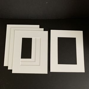 4 Photo Mats 8x10 for 4x6 Picture Frame White Beveled for Sale in Palmetto, FL