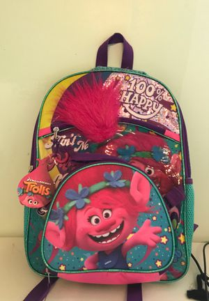 Dreamworks Trolls Poppy 100% Happy Backpack with Luncbag for Sale in Catlettsburg, KY