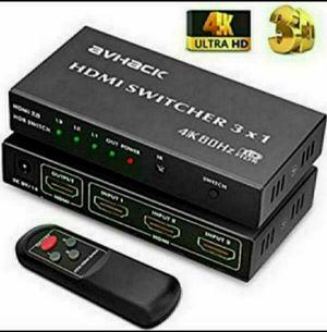 4K HDMI Switch 3-Port 3x1 4K 60Hz HDMI Switch Box for Sale in Fontana, CA