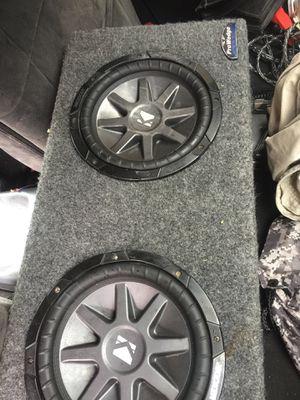 2 kicker 10 cr in jl audio pro wedge box for Sale in Lawrenceville, GA