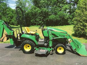John Deere 1023E Tractor Loader Backhoe 54D Mid Mower for Sale in Dallas, TX