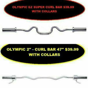 NEW OLYMPIC EZ CURL BAR SUPER BARS OR REGULAR $40EA for Sale in Queens, NY