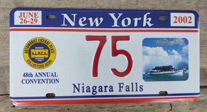 New York ALPCA Niagara Falls License Plate 2002 for Sale in Fort Defiance, VA
