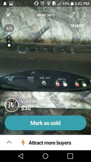 Vizio soundbar for Sale in Evansville, IN