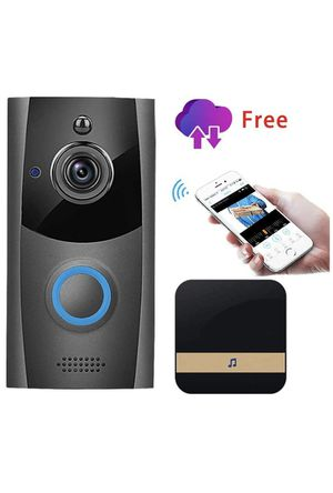 Wireless Video Doorbell, Innotic Free Cloud Storage Smart Doorbell with Chime, 720P HD WiFi Security Camera, Two-Way Talk, PIR Motion Detection & Vid for Sale in Monterey Park, CA