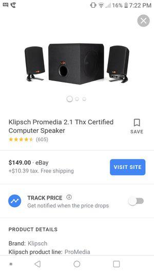 Klipsch speakers for Sale in Chesilhurst, NJ