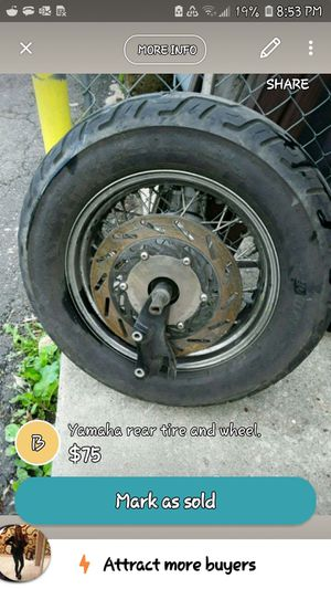 Rear motorcycle wheel and tire for Sale in Langhorne, PA