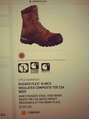 Size 9 Carhartt. Rugged Work Boot for Sale in Columbus, OH