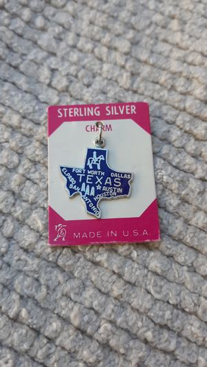 Texas Vintage Sterling Silver Charm for Sale in Chandler, AZ