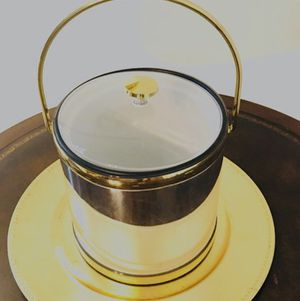 MCM Kraftware Chrome/ Gold Acrylic Ice Bucket for Sale in Duncan, SC