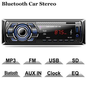 Bluetooth Car Stereo, 4x60W Digital Media Receiver with Remote Control, Car Speakerphone Hand-Free Call, Support USB/SD/Audio Receiver/MP3 Player/FM for Sale in Oakland, CA