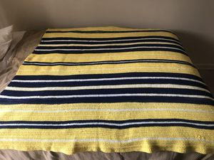 Maize & Blue Throw Blanket for Sale in Charter Township of Clinton, MI