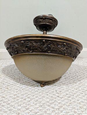 Light fixture: flush mount, gilded gold for Sale in Dulles, VA