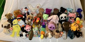 34 Ty Beanie Baby & Beanie Boos Doll Collection W/ All Tags Attached (Great Condition!) for Sale in Tacoma, WA