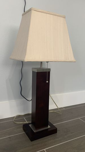 Lamp Dark Wood Finish for Sale in Fort Lauderdale, FL