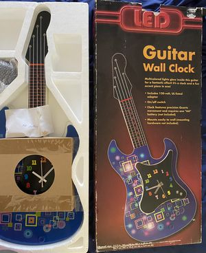 LEF Guitar Wall Clock NEW for Sale in Colton, CA