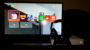 4k moniter, surround sound headset,and xbone one s for Sale in Moreno Valley, CA