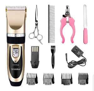 Sminiker Professional Rechargeable Cordless Dogs Cats Horse Grooming Clippers - Professional Pet Hair Clippers for Sale in Garland, TX