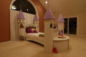 BEAUTIFUL, one of a kind, twin size, princess castle bed PRICE REDUCED for Sale in Chesterfield, VA