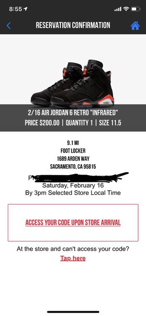 JORDAN 6 RETRO INFRARED for Sale in West Sacramento, CA