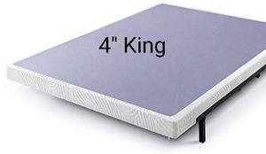 """New Zinus Walter 4"""" Metal Box Spring with Wood Slats, King for Sale in Sacramento, CA"""