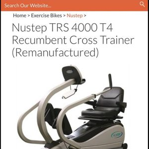 Nustep TRS 4000 T4 Recumbent Cross Trainer-Firm for Sale in Clovis, CA