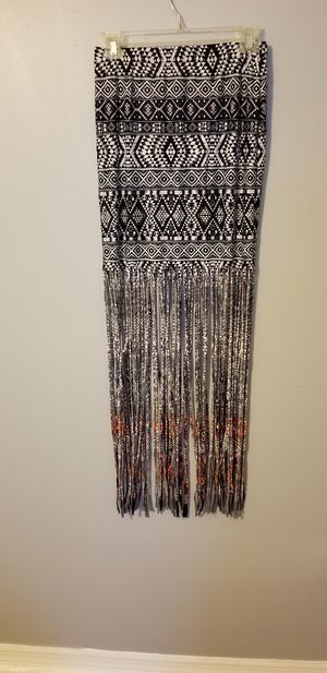 womens Venus maxi skirt with fringe bottom size M for Sale in Tampa, FL