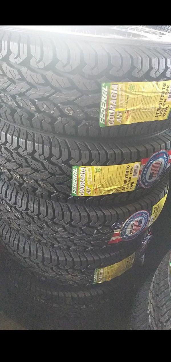 245 75 16 new set of 4 tires LT all terrain