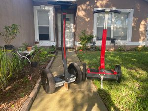 Segway 9-bot and pt personal transporter the segway is for parts the mother board is shot the pt is functional for Sale in Rockledge, FL