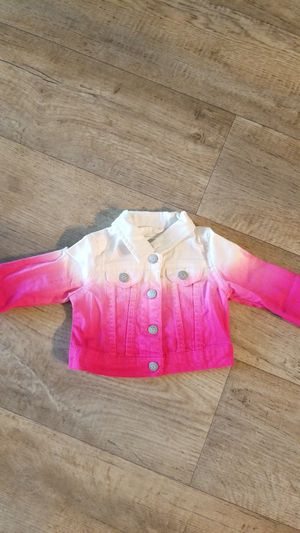 9mo pink and white ombre denim jacket for Sale in Boynton Beach, FL