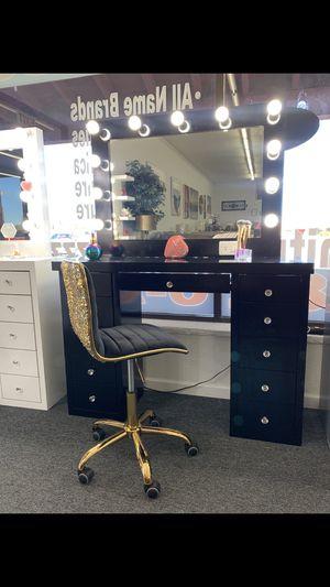 Black makeup vanity for Sale in Tempe, AZ