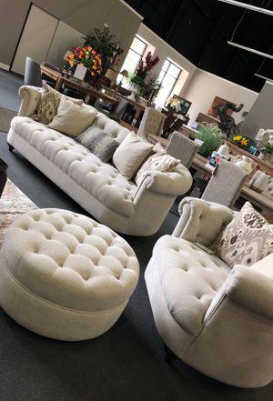 Unique sofa chair Nd ottoman!! NEW for Sale in Modesto, CA