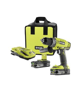 RYOBI 18-Volt ONE+ Lithium-Ion Cordless 1/2 in. Hammer Drill/Driver Kit with (2) 1.5 Ah Batteries, Charger, and Tool Bag for Sale in Hyattsville, MD
