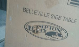 "New outdoor side table Belleville Hamptonbay 20"" retails $99 for Sale in Phoenix, AZ"