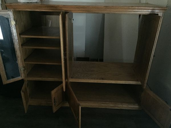 Solid wood entertainment center OBO!!