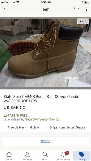 State street work boots water proof mens sz 13 for Sale in San Diego, CA