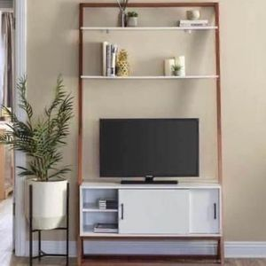 """New 42"""" Wood Ladder Shelf TV Stand Media Console w/ Storage Cabinet & Shelves - 40"""" TV for Sale in Clifton, VA"""