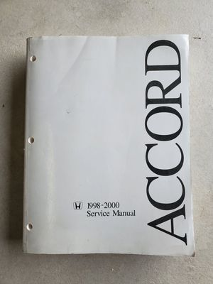1998-2002 Honda Accord Service Repair Manual book 98-02 for Sale in Brighton, CO