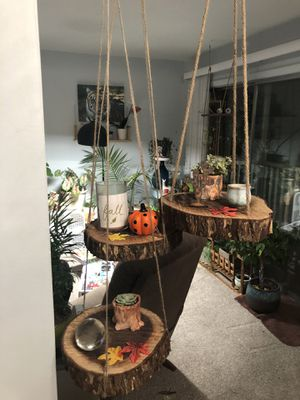 Black Walnut Hanging Shelves for Sale in Elk Grove Village, IL