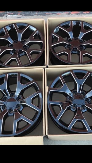 "New 20"" Honey Comb Black / Milled Rims 20 Honeycomb Wheels 20s Rines Chevrolet Silverado Tahoe Avalanche GMC Sierra Yukon suburban Denali Cadillac Es for Sale in Dallas, TX"