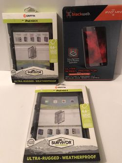 iPad mini 4 weatherproof cases + screen protector for Sale in Crystal River,  FL