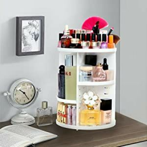New Makeup Organizer Rotating 360 Storage Box, Large Capacity, Fits Toner, Creams, Makeup Brushes, Lipsticks and More, $25 Or Best Offer. for Sale in Los Angeles, CA