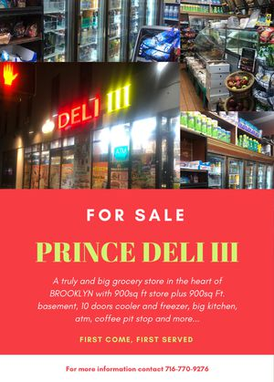 Deli grocery store for Sale in Brooklyn, NY