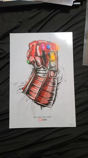 Marvel Studios We Love You 3000 exclusive poster 19 x 13 for Sale in Hollywood, FL