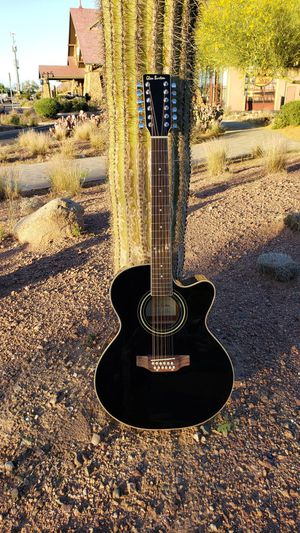 New 12 String Acoustic Electric Requinto Guitar Black Combo with Gig Bag & Accessories Guitarra Electrica Acústica Docerola 12 Cuerdas for Sale in South Gate, CA