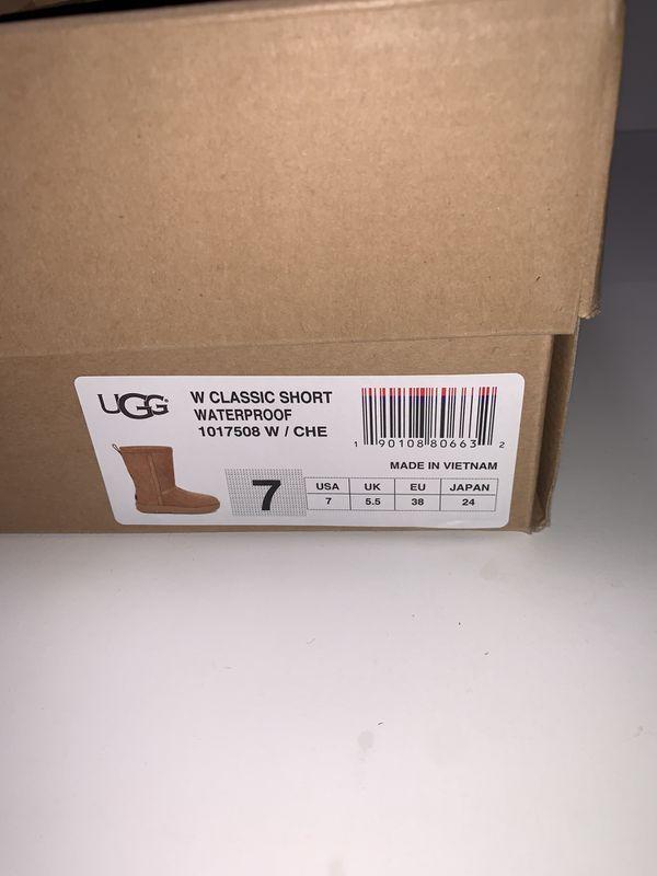 Ugg Women's Classic Short Waterproof Boot Chestnut
