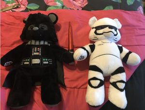 Star Wars Darth Vader w/sound & Storm Trooper Build A Bear Teddy Bear for Sale in El Mirage, AZ