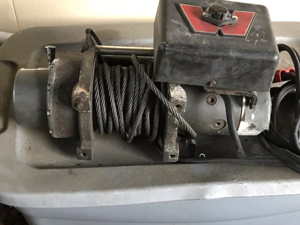 Warn winch for parts or repair .