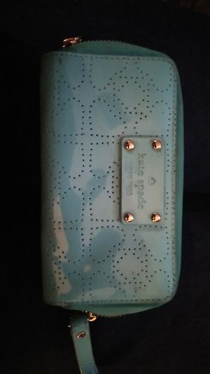 Kate Spade turquoise money/ card pouch with zipper for Sale in Burlingame, CA