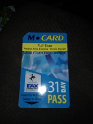 31 day FAX bus pass for Sale in Fresno, CA